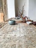 Tabla china de la caligrafía Foto de archivo