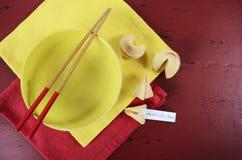Tabla china del partido de la celebración del Año Nuevo Fotografía de archivo libre de regalías