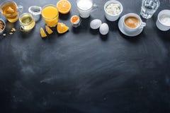 Tabla colorida útil del negro de la vida de Stil del desayuno Fotos de archivo libres de regalías