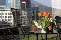 Tabla con las flores de la primavera Imagen de archivo