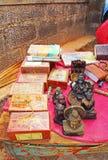 Tabla con los recuerdos La India Imágenes de archivo libres de regalías