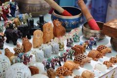 Tabla con los recuerdos La India Fotografía de archivo libre de regalías