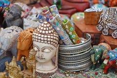 Tabla con los recuerdos Recuerdos del sur de la India Fotografía de archivo libre de regalías