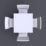 Tabla cuadrada con cuatro sillas Fotografía de archivo libre de regalías