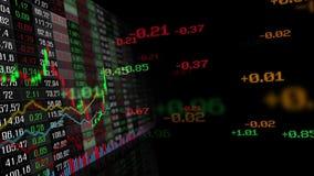 Tabla de índices de mercado de la bolsa de acción stock de ilustración