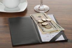 Tabla de Bill With American Dollars On Foto de archivo