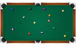 Tabla de billar de la piscina Imagen de archivo libre de regalías