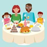 Tabla de cena de la familia