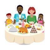 Tabla de cena de la familia Imagen de archivo