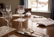 Tabla de cena del día de fiesta fotografía de archivo