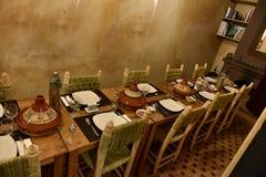 Tabla de cena marroquí imagen de archivo