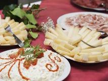 Tabla de comida fría deliciosa Foto de archivo libre de regalías