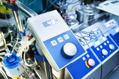 Tabla de control de la máquina corazón-pulmón foto de archivo libre de regalías