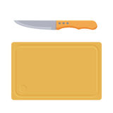 Tabla de cortar con el icono del cuchillo Ilustración del Vector