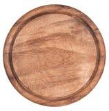 Tabla de cortar de madera en el fondo blanco Imagen de archivo libre de regalías