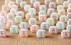 Tabla de elementos periódica. Foco selectivo. concepto de la educación de la ciencia foto de archivo libre de regalías