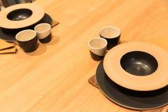 Tabla de Japón servida fotografía de archivo libre de regalías