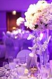 Tabla de la boda Fotografía de archivo libre de regalías