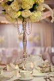 Tabla de la boda Foto de archivo libre de regalías