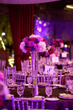 Tabla de la boda Imagenes de archivo