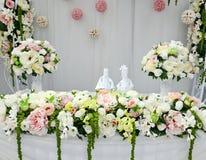 Tabla de la boda Fotografía de archivo