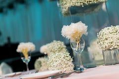 Tabla de la boda Imagen de archivo libre de regalías