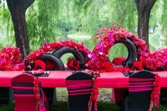 Tabla de la boda Imagen de archivo