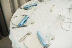 Tabla de la boda de la porción Imagen de archivo libre de regalías