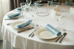 Tabla de la boda de la porción Imagen de archivo