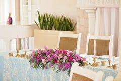 Tabla de la boda de la decoración del arte Fotografía de archivo libre de regalías