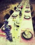 Tabla de la fiesta del té imágenes de archivo libres de regalías
