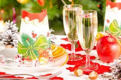 Tabla de la Navidad Imagenes de archivo
