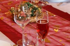 Tabla de la Nochebuena Imagen de archivo libre de regalías