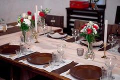 Tabla de la porción para el banquete con aduana tradicional Imagen de archivo