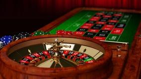 Tabla de la ruleta del casino imagen de archivo libre de regalías