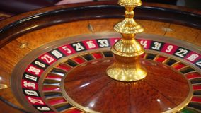 Tabla de la ruleta del casino con los microprocesadores almacen de video