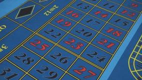 Tabla de la ruleta del detalle en casino almacen de metraje de vídeo