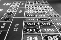 Tabla de la ruleta en casino de lujo Foto blanco y negro de Pekín, China foto de archivo libre de regalías