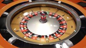 Tabla de la ruleta en el casino de madera metrajes