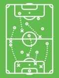 Tabla de la táctica del fútbol/del fútbol Esquema de la protección Línea arte Imagen de archivo