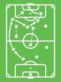 Tabla de la táctica del fútbol/del fútbol Línea arte Fotografía de archivo