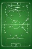 Tabla de la táctica del fútbol Ilustración del vector El esquema táctico Imágenes de archivo libres de regalías