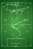 Tabla de la táctica del fútbol Foto de archivo libre de regalías