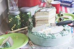 Tabla de la torta fotografía de archivo libre de regalías