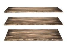 Tabla de madera de 3 estantes imagen de archivo