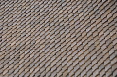 Tabla de madera del tejado Imágenes de archivo libres de regalías