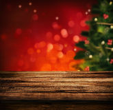 Tabla de madera para la Navidad imagen de archivo libre de regalías