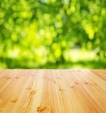 Tabla de madera vacía Foto de archivo libre de regalías