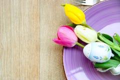Tabla de Pascua Fotografía de archivo libre de regalías