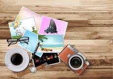 Tabla de trabajo del escritorio Foto de archivo libre de regalías